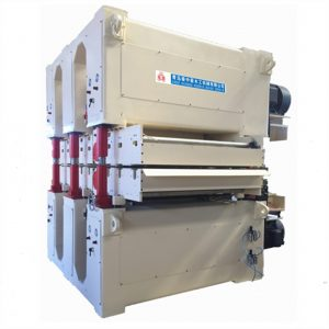 Double side wide belt sanding machine
